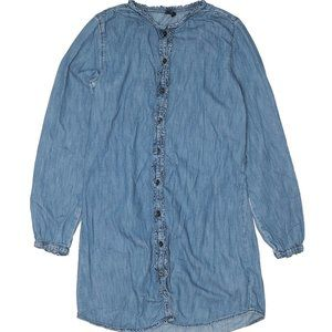 Gap Kids Chambray Denim Shirt Dress XXL LongSleeve